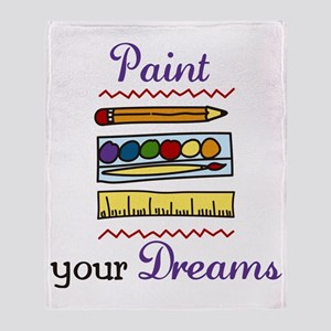 Paint Your Dreams Throw Blanket