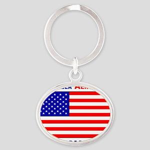 American Ingenuity Oval Keychain