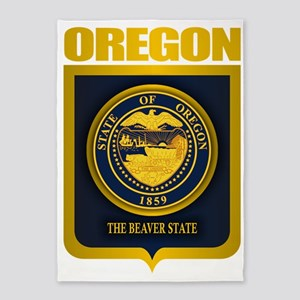 Oregon State Seal (B) 5'x7'Area Rug