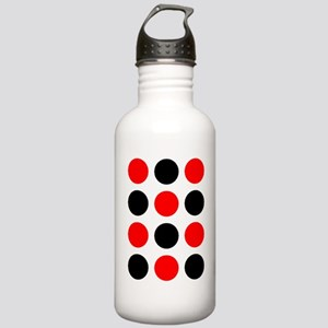 Red  Black Checkers De Stainless Water Bottle 1.0L