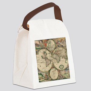 World Map 1671 Canvas Lunch Bag