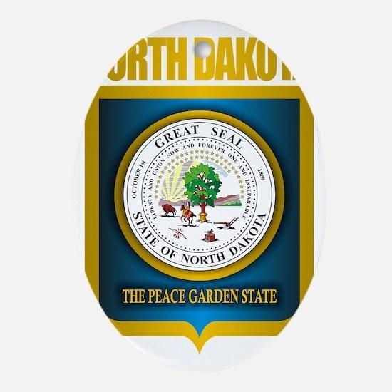 North Dakota Seal (B) Oval Ornament
