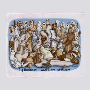 Big business T Throw Blanket
