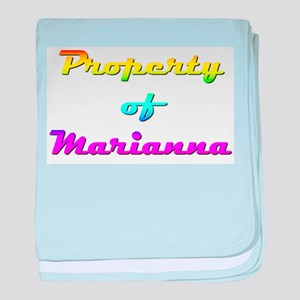Property Of Marianna Female baby blanket