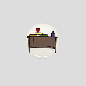 School Teacher Desk Mini Button