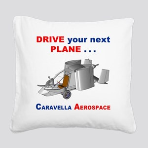 Driving Roadable Aircraft Square Canvas Pillow