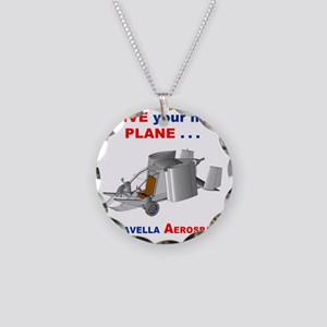 Driving Roadable Aircraft Necklace Circle Charm