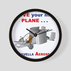 Driving Roadable Aircraft Wall Clock