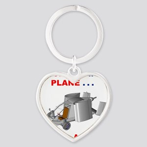 Driving Roadable Aircraft Heart Keychain