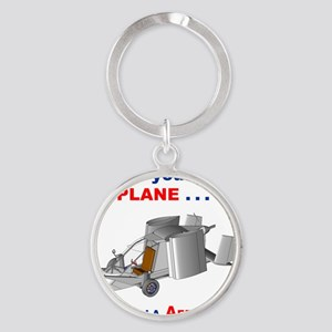 Driving Roadable Aircraft Round Keychain
