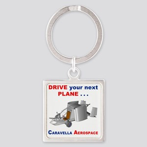 Driving Roadable Aircraft Square Keychain