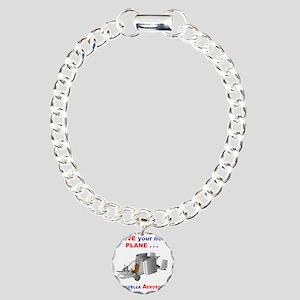 Driving Roadable Aircraf Charm Bracelet, One Charm
