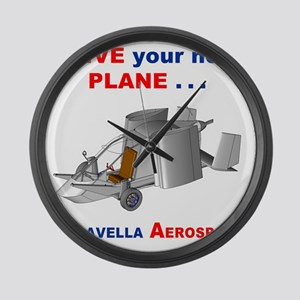 Driving Roadable Aircraft Large Wall Clock