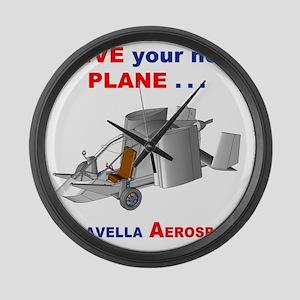 Driving Roadable Aircraft Large Wall Clock