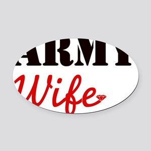 Cute Army Wife Oval Car Magnet