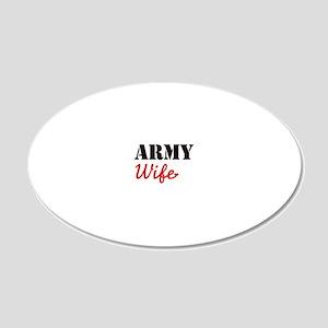 Cute Army Wife 20x12 Oval Wall Decal