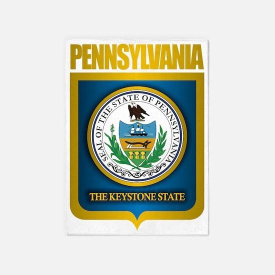 Pennsylvania State Seal (B) 5'x7'Area Rug