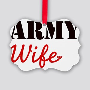 Cute Army Wife Picture Ornament