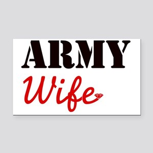 Cute Army Wife Rectangle Car Magnet