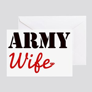 Cute Army Wife Greeting Card