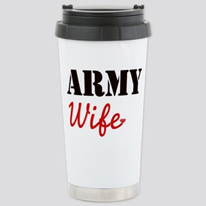 Cute Army Wife Stainless Steel Travel Mug