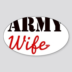 Cute Army Wife Sticker (Oval)