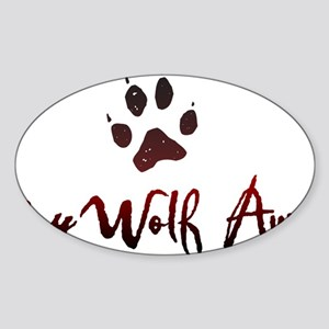 My Wolf Awaits Sticker (Oval)
