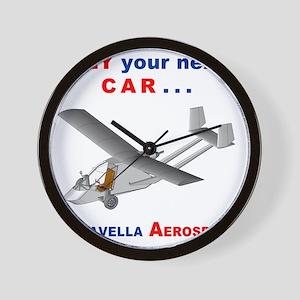 Flying Roadable Aircraft Wall Clock
