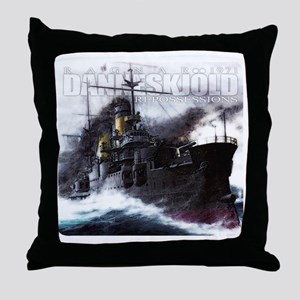 Danneskjold Repossessions Ship Throw Pillow