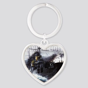 Danneskjold Repossessions Ship Heart Keychain