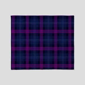purple tartan Throw Blanket