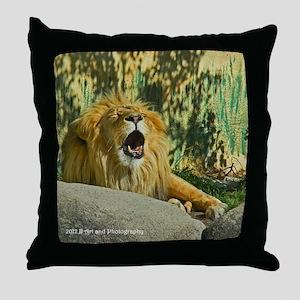 Lion Yawn Throw Pillow