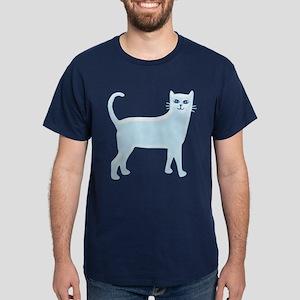 Sky Blue Cat Dark T-Shirt