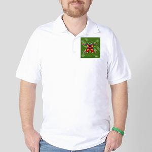 Butterfly Happy Holidays! Round Ornamen Golf Shirt