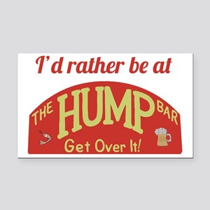 Id rather be at The Hump Bar Rectangle Car Magnet