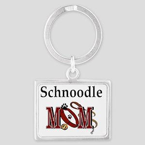 Schnoodle Mom Landscape Keychain