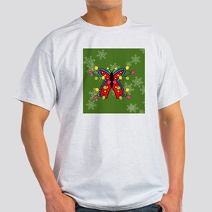 Butterfly Happy Holidays! (Round) Or Light T-Shirt