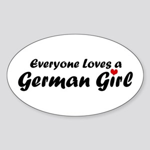 Everyone Loves a German Girl Oval Sticker