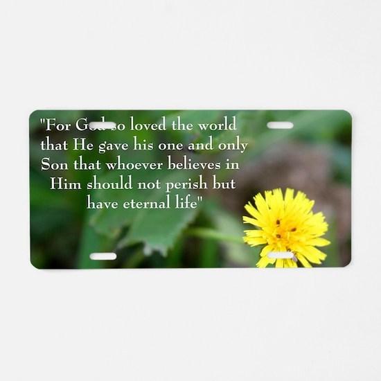 John 3:26 Dandelion Aluminum License Plate