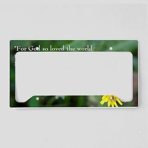 John 3:26 Dandelion License Plate Holder