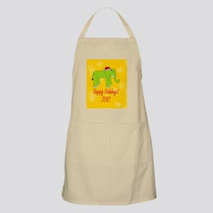 Elephant Happy Holidays! Hexagon Ornament Apron