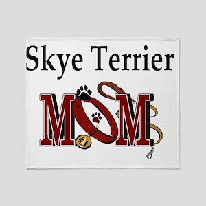 Skye Terrier Mom Throw Blanket