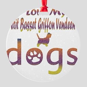 Petit Basset Griffon Vendeen design Round Ornament