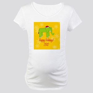 Elephant Happy Holidays! Snow Or Maternity T-Shirt