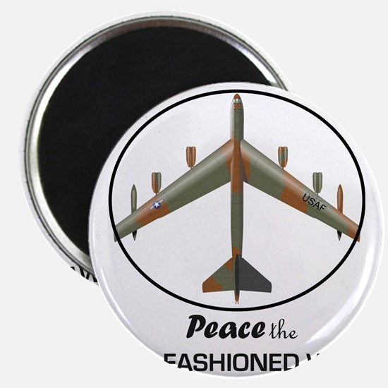 B-52 Stratofortress Peace the Old Fashioned Magnet