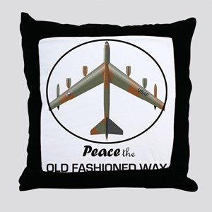 B-52 Stratofortress Peace the Old Fas Throw Pillow