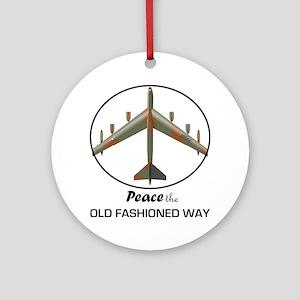 B-52 Stratofortress Peace the Old F Round Ornament