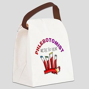 phlebotomist were so vein Canvas Lunch Bag