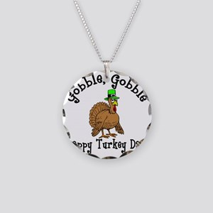Thanksgiving Necklace Circle Charm
