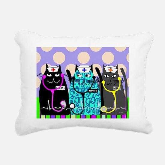 nurse cat blanket 2 polk Rectangular Canvas Pillow